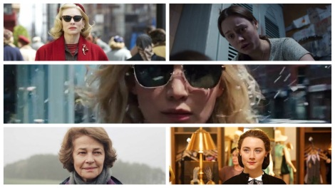 Film News - Oscars 2016 - Best Actress Nominations include Cate Blanchett, Brie Larson, Jennifer Lawrence, Charlotte Rampling and Saoirse Ronan