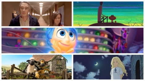 Film News - Oscars 2016 - Best Animated Feature Film Nominations include Anomalisa, Boy And The World, Inside Out, Shaun The Sheep Movie and When Marnie Was There