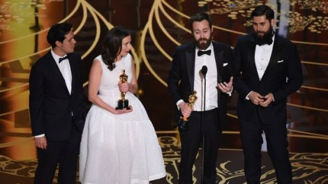Film News - Oscars 2016 - Benjamin Cleary with Oscar for Best Short Film Live Action with Stutterer