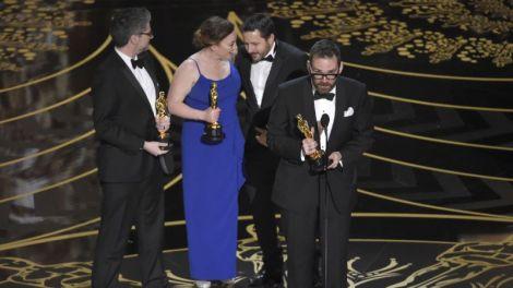 Film News - Oscars 2016 - Andrew Whitehurst, Paul Norris, Mark Ardington and Sara Bennett earn Oscar for their work on Ex Machina winning Best Visual Effects Category