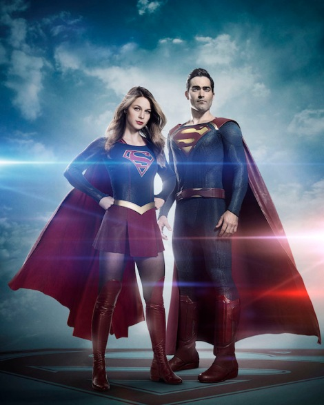 TV News - First Look at Tyler Hoechlin playing the Man of Steel for Supergirl Season 2