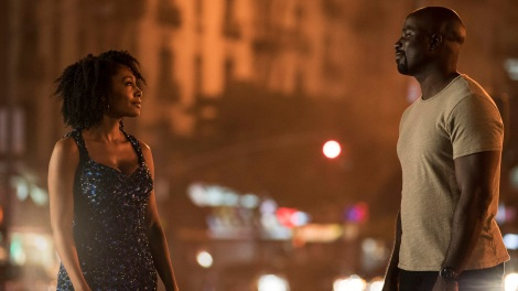 TV Review - Luke Cage - Simone Missick as Misty Knight with Mike Colter as Luke Cage