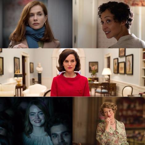 Oscars 2017 - Best Actress - Isabelle Huppert (Elle), Ruth Negga (Loving), Natalie Portman (Jackie), Emma Stone (La La Land) and Meryl Streep (Florence Foster Jenkins)