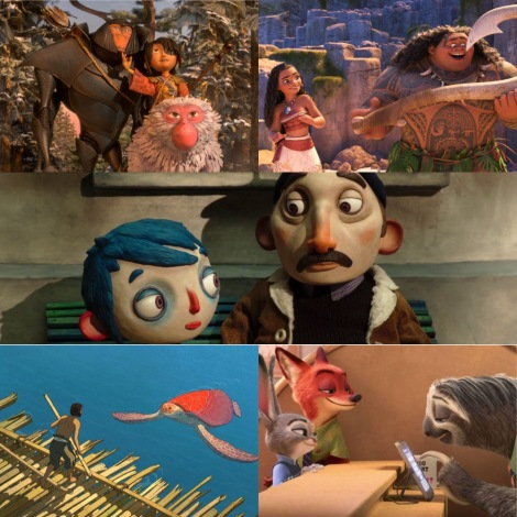 Oscars 2017 - Best Animated Feature - Kubo and the Two Strings, Moana, My Life As A Zucchini, The Red Turtle and Zootopia