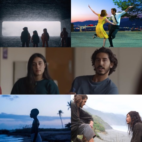 Oscars 2017 - Best Cinematography Nominations - Bradford Young (Arrival), Linus Sandgren (La La Land), Greig Fraser (Lion), James Laxton (Moonlight) and Rodrigo Prieto (Silence)