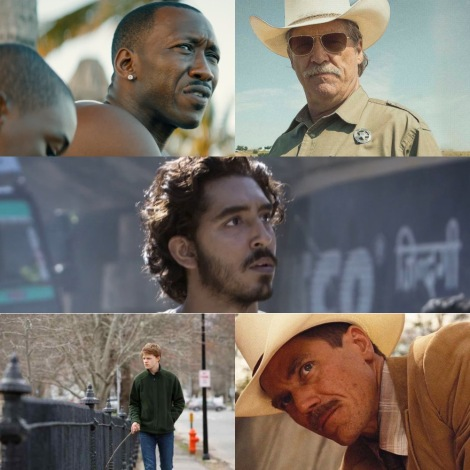 Oscars 2017 - Best Supporting Actor - Mahershala Ali (Moonlight), Jeff Bridges (Hell or High Water), Lucas Hedges (Manchester By The Sea), Dev Patel (Lion) and Michael Shannon (Nocturnal Animals)