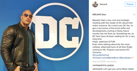 The Rock meets with Geoff Johns at DC