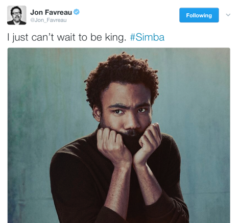 Film News - The Lion King - Donald Glover Set To Play Simba