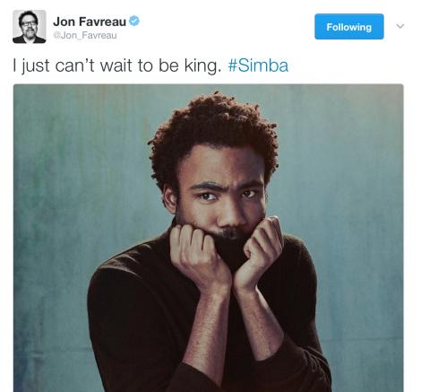 Film News - The Lion King - Donald Glover Set To Play Simba