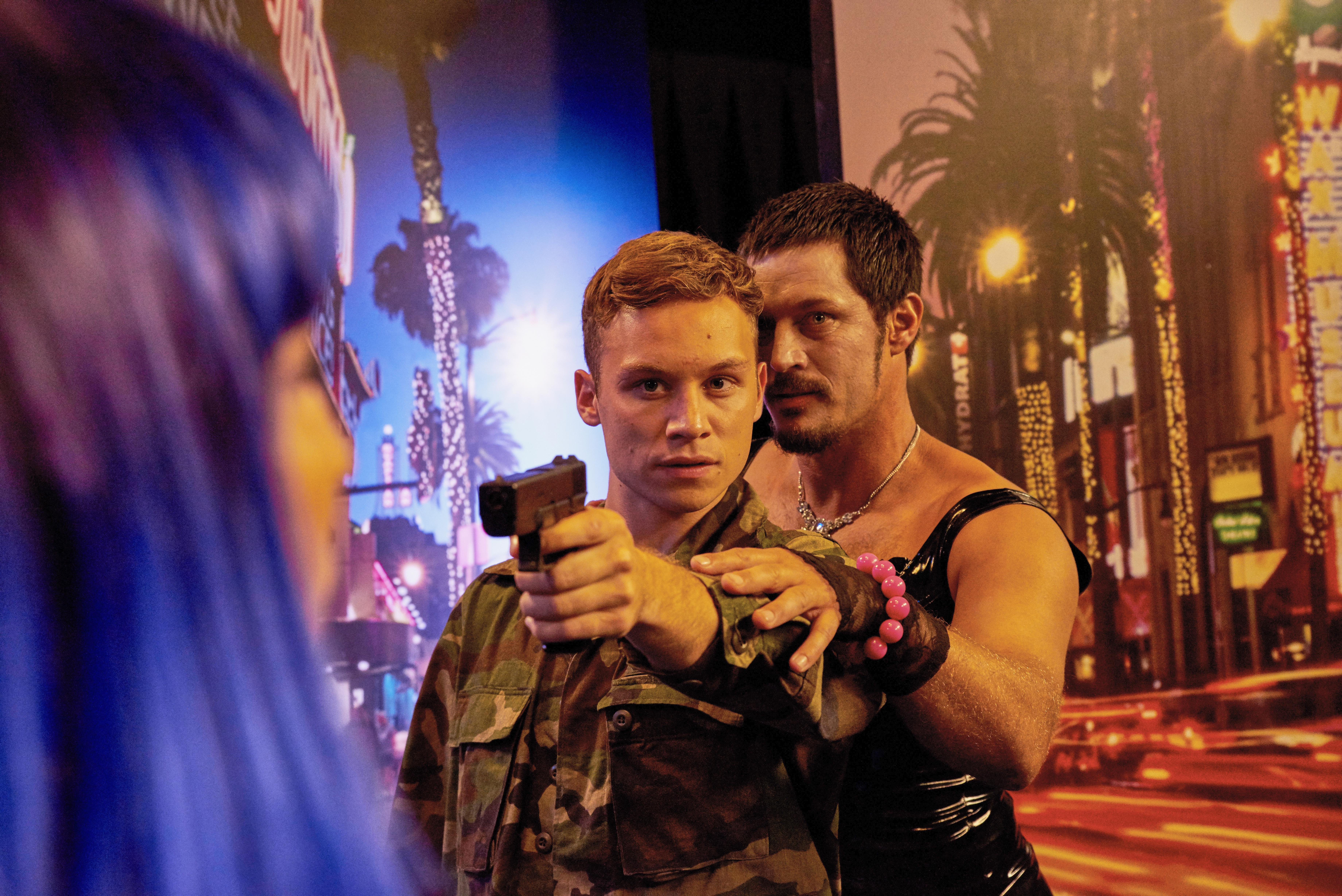 Film Review of Here Are The Young Men - Finn Cole as Joseph Kearney and Travis Fimmel as The TV Host