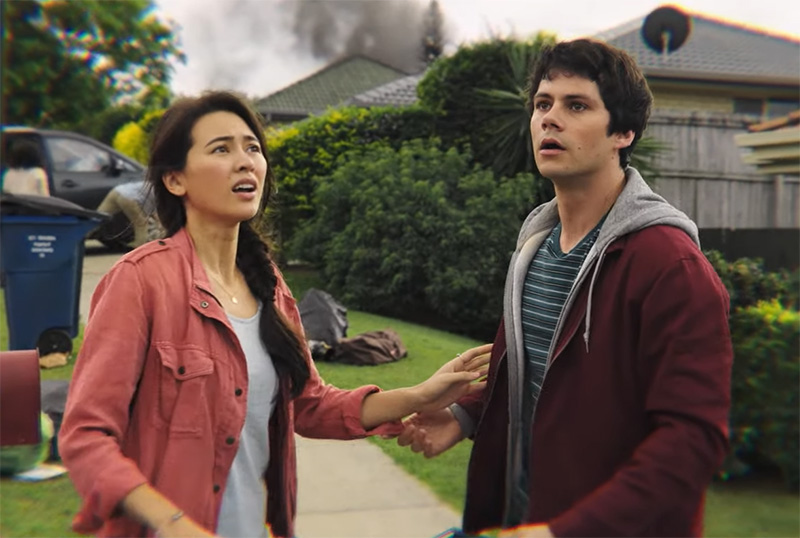 Film Review of Love and Monsters - Jessica Henwick as Aimee and Dylan O'Brien as Joe Dawson